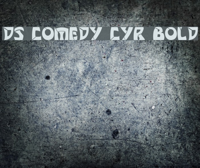 DS Comedy Cyr Bold फ़ॉन्ट examples