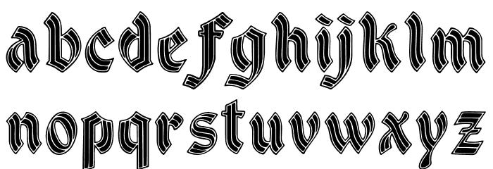DSCathedralAlt Шрифта строчной