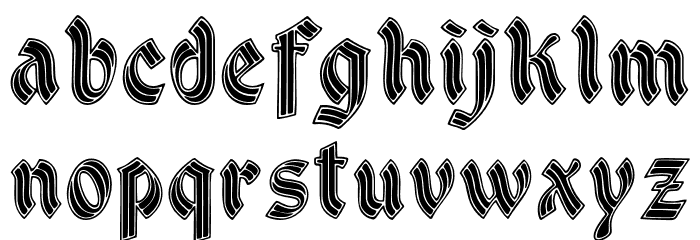 DSCathedral Font LOWERCASE
