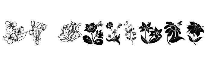 DT Flowers 2  Free Fonts Download