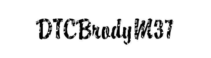 DTCBrodyM37  Free Fonts Download