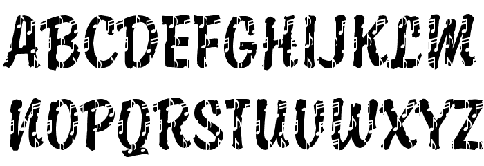 DTCBrodyM37 Font UPPERCASE