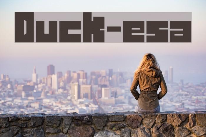 Duck-esa Font examples