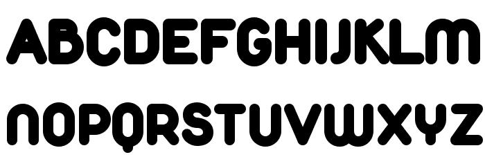 Duepuntozero Black Font UPPERCASE