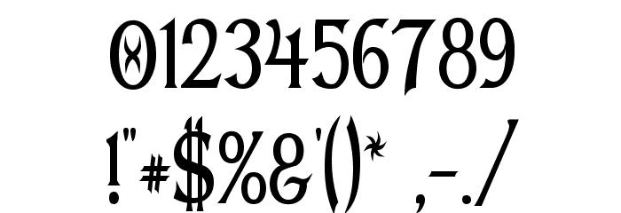 Dumbledor 1 Thin Font OTHER CHARS