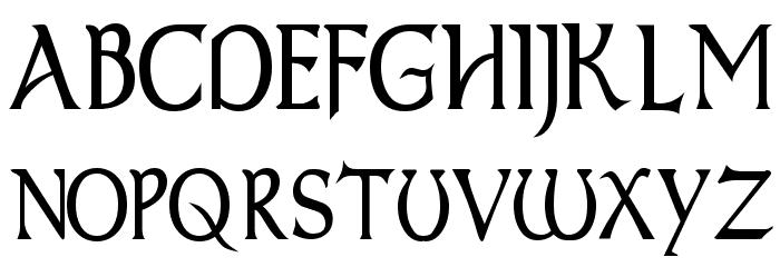 Dumbledor 1 Thin Font UPPERCASE