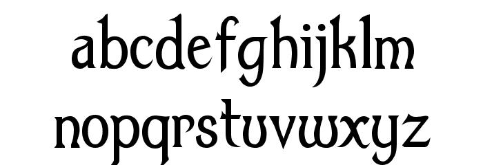 Dumbledor 1 Thin Font LOWERCASE