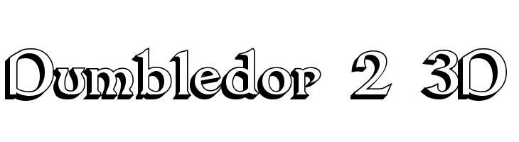 Dumbledor 2 3D  Скачать бесплатные шрифты