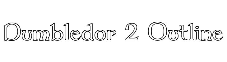 Dumbledor 2 Outline  नि: शुल्क फ़ॉन्ट्स डाउनलोड