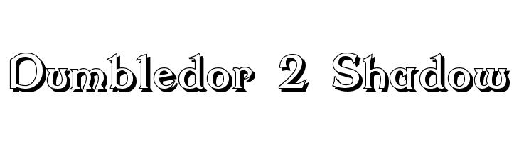 Dumbledor 2 Shadow  Скачать бесплатные шрифты