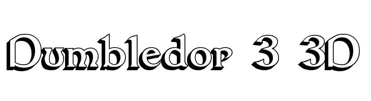 Dumbledor 3 3D  Free Fonts Download