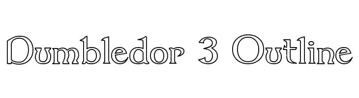 Dumbledor 3 Outline  Скачать бесплатные шрифты