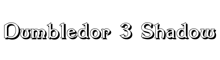 Dumbledor 3 Shadow  Free Fonts Download