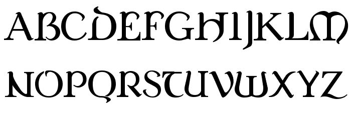 Dungeon Font UPPERCASE