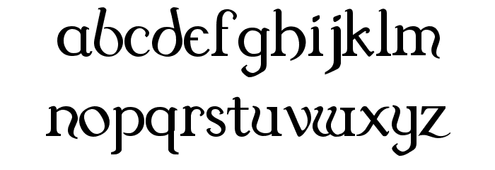 Dungeon Font LOWERCASE