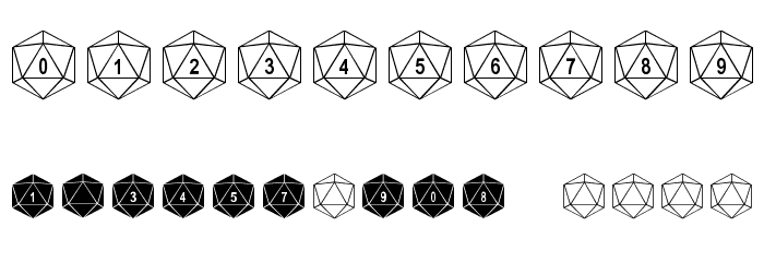 Duodecahedron Font OTHER CHARS