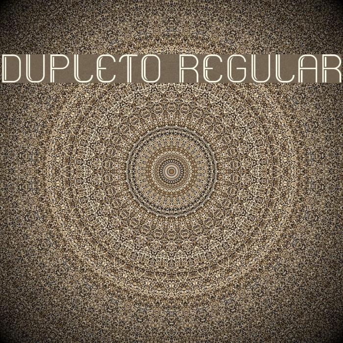 Dupleto Regular Fuentes examples