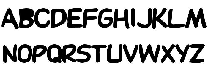 DupuyBALloon-Bold Bold Font UPPERCASE