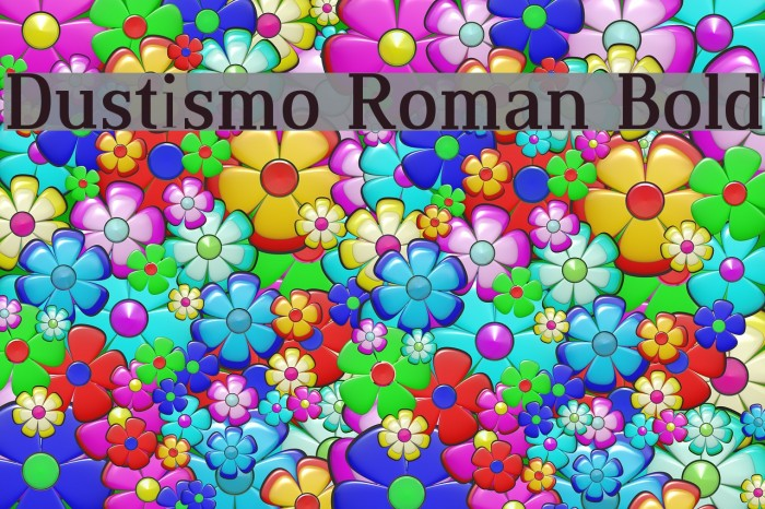 Dustismo Roman Bold Fonte examples