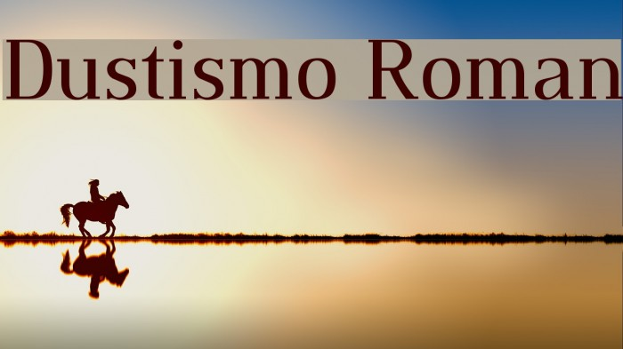 Dustismo Roman Font examples