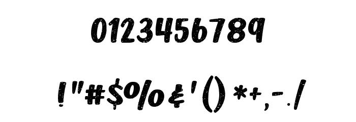 Dusty Velvet Regular Font OTHER CHARS