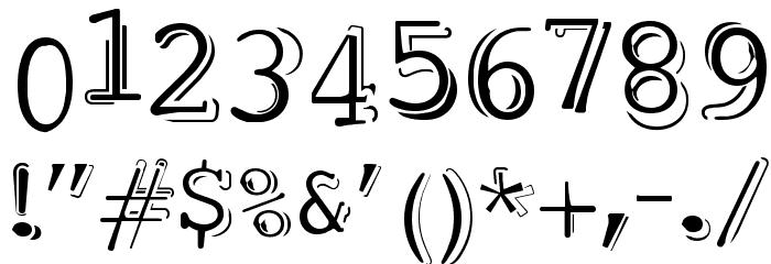 dubble trubble Шрифта ДРУГИЕ символов