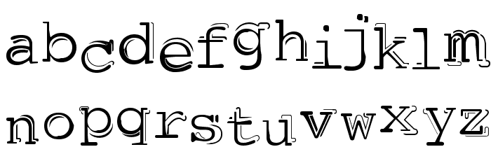 dubble trubble Шрифта строчной