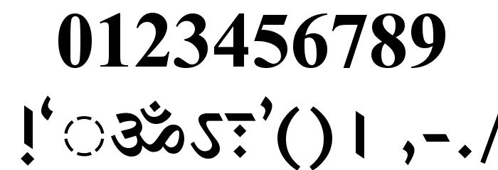 DV-TTSurekhEN-Bold Font OTHER CHARS