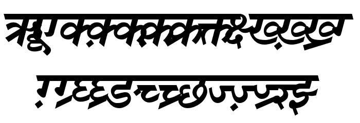 DV-TTSurekhEN-BoldItalic Font UPPERCASE
