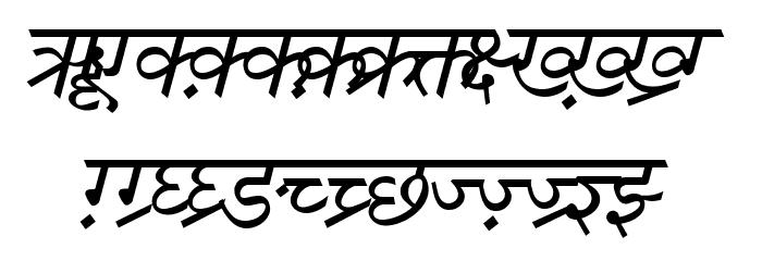 DV-TTSurekhEN-Italic Font UPPERCASE