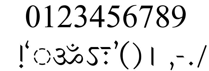 DV-TTSurekhEN-Normal Font OTHER CHARS