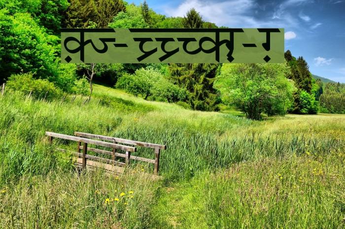 DV-TTSurekhEN-Normal Font examples