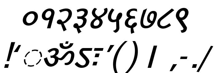 DV-TTYogesh BoldItalic Font OTHER CHARS