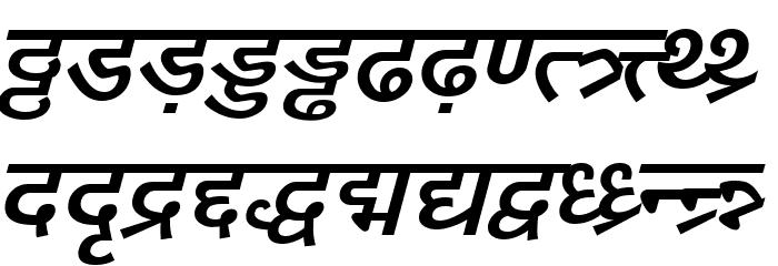 DV-TTYogesh BoldItalic Font LOWERCASE