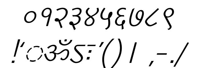 DV-TTYogesh Italic Font OTHER CHARS