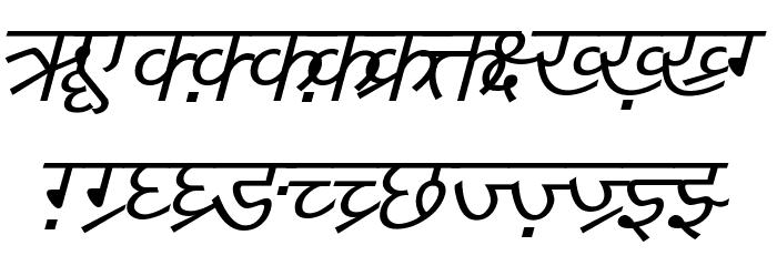 DV-TTYogesh Italic Font UPPERCASE