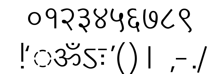 DV-TTYogesh Normal Font OTHER CHARS
