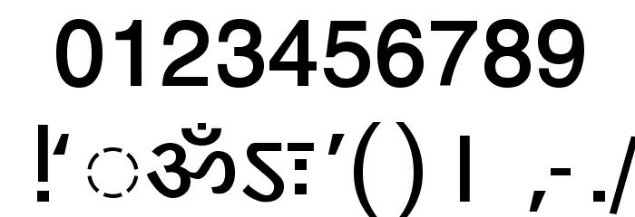 DV-TTYogeshEN Bold Font OTHER CHARS