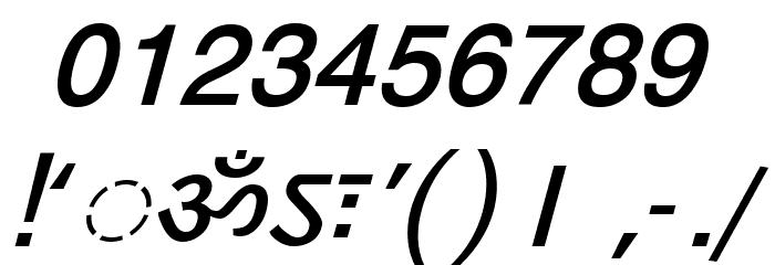 DV-TTYogeshEN BoldItalic Font OTHER CHARS