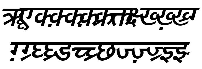 DV-TTYogeshEN BoldItalic Font UPPERCASE