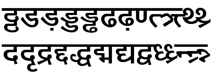 DV-TTYogeshEN Bold Font LOWERCASE