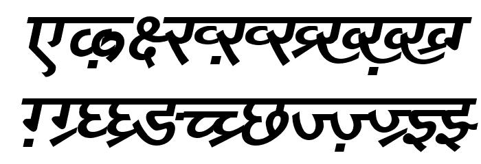 DV_Divyae Bold Italic Font UPPERCASE