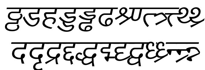 DV_Divyae Italic Шрифта строчной