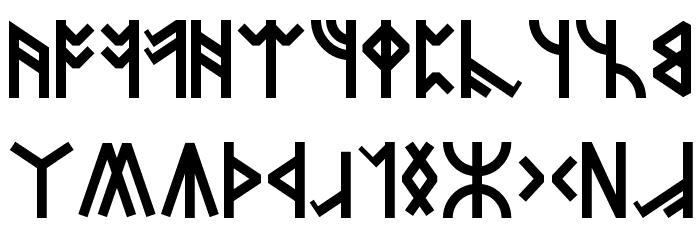 Dwarven Runes Font LOWERCASE