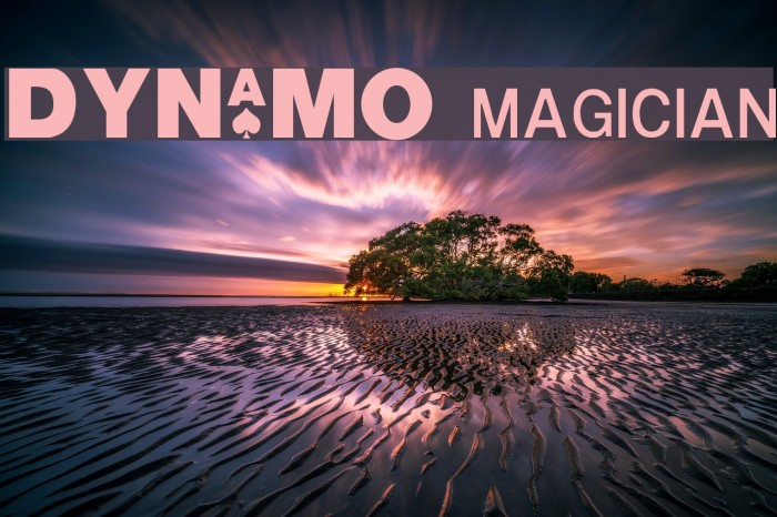 DYNAMO magician フォント examples