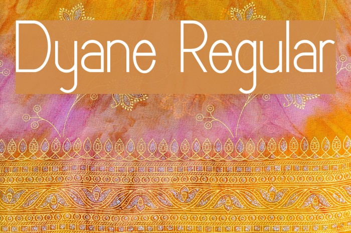 Dyane Regular Font examples
