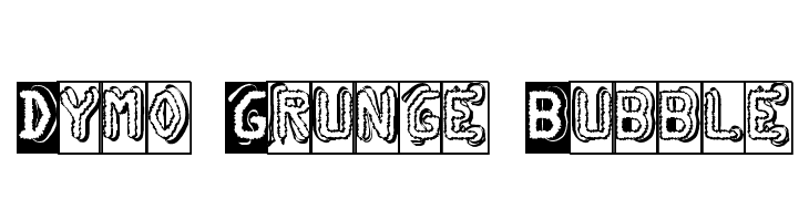 Dymo Grunge Bubble  Free Fonts Download