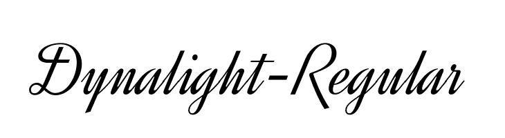 Dynalight-Regular  les polices de caractères gratuit télécharger