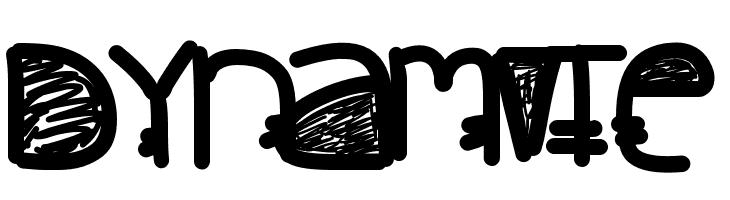 Dynamite  フリーフォントのダウンロード