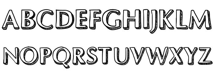 Dynasty फ़ॉन्ट अपरकेस